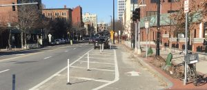 Protected lane in Central Square