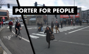 CLICK FOR INFO. Rally for a Safe Porter for people walking and biking
